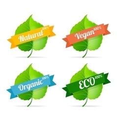 vegan shop labels set vector image vector image