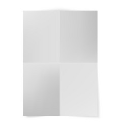 a4 format paper with shadows blank four vector image