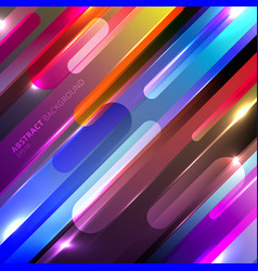 abstract colorful glowing geometric rounded vector image