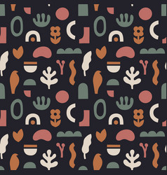 abstract seamless pattern in trendy collage style vector image