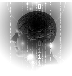 Active Human Brain with Binary digits vector