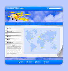 Airlines or travel web design vector