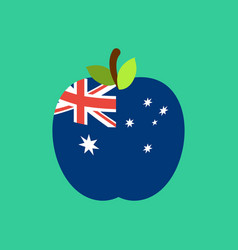 apple australia flag australian national fruit vector image