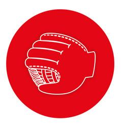 baseball glove isolated icon vector image