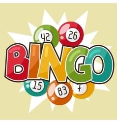 Bingo or lottery retro game vector
