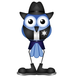 BIRD SHERIFF vector image