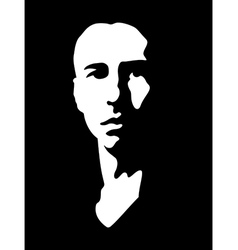 Black and white portrait vector image