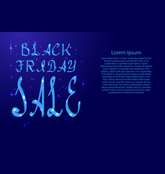 Black friday lettering holiday calligraphy with vector