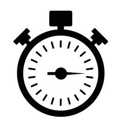 Black stopwath icon vector