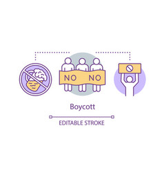 Boycott concept icon public product abstention vector