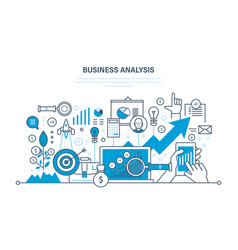 Business analysis data analytics research vector