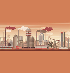 chemical industrial landscape background vector image