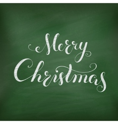 Christmas Chalkboard with lettering vector