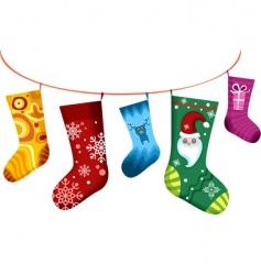 Christmas stocking vector