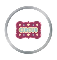 Circus banner icon in cartoon style isolated on vector