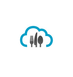 Cloud cooking logo vector
