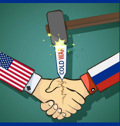 Cold war between the usa and russia vector