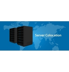 Colocation server web hosting services vector image