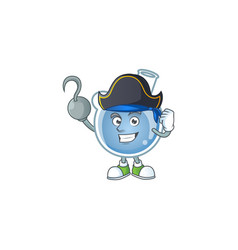Cool one hand pirate blue potion cartoon character vector