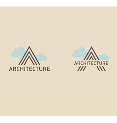 Creative logo on the theme of architecture vector