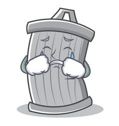 crying trash character cartoon style vector image vector image