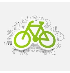 Drawing business formulas bicycle vector