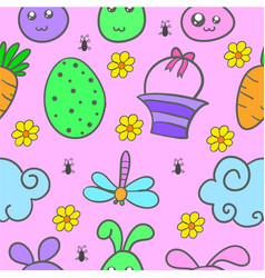 Easter egg style doodles vector