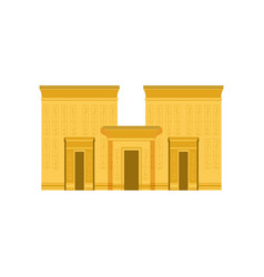 Egypt temple ancient egyptian building vector