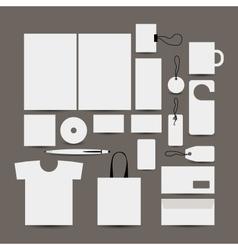 Empty design object folder bag label mug cards vector image