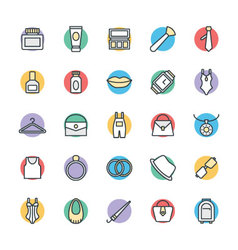 Fashion and Clothes Cool Icons 3 vector