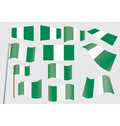 flags of Nigeria vector image