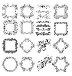 floral patterns for card and invitation decoration vector image