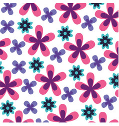 flowers decoration leaves ornate background vector image