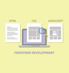 frontend website development compare comparison vector image