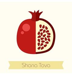 Garnet Rosh Hashanah icon Shana tova vector