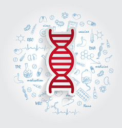 Icons for medical specialties genetics and dna vector