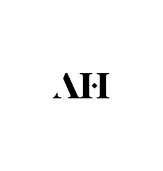 initial a and h logo design concept vector image