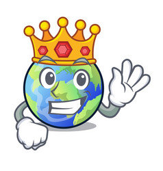 King earth isolated with in the cartoons vector