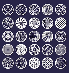 laser cut round abstract decorative pattern vector image