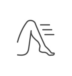 Leg or foot line outline icon vector