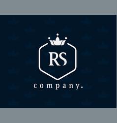 Letter rs r s luxury royal monogram logo design vector