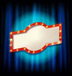 light bulb frame vector image