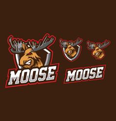 Moose mascot logo design vector
