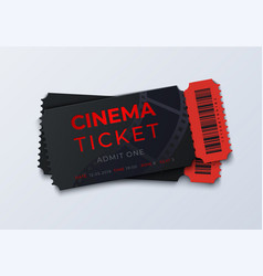 movie ticket template realistic cinema theater vector image