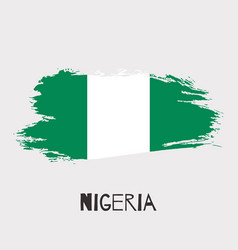 Nigeria watercolor national country flag icon vector