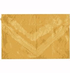 Old shabby sealed envelope vector