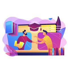 Online tutor concept vector