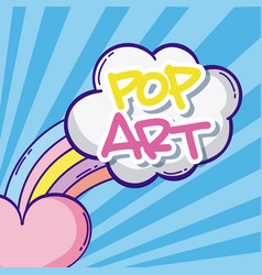 pop art cartoons vector image
