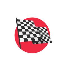 racing finishing flag pictograph vector image