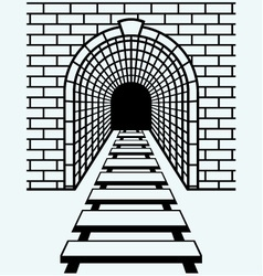 railway tunnel vector image